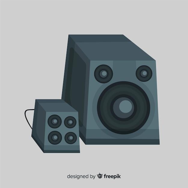 Hand drawn black speaker background Free Vector