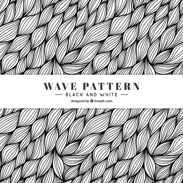 Hand Drawn Black And White Pattern Vector   Free Download