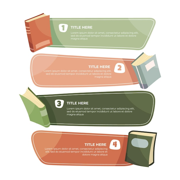Hand drawn book infographics Free Vector
