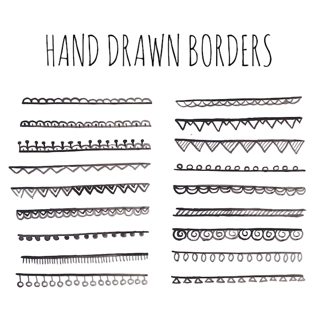Hand drawn borders Vector | Free Download