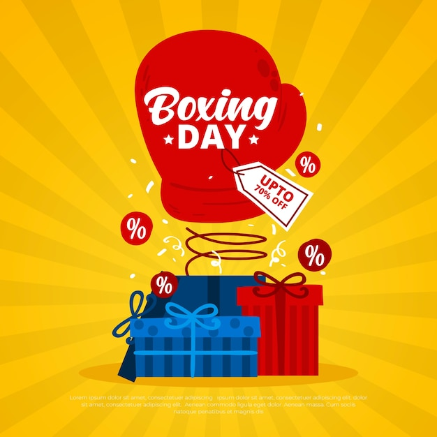 Hand drawn boxing day sale concept Free Vector