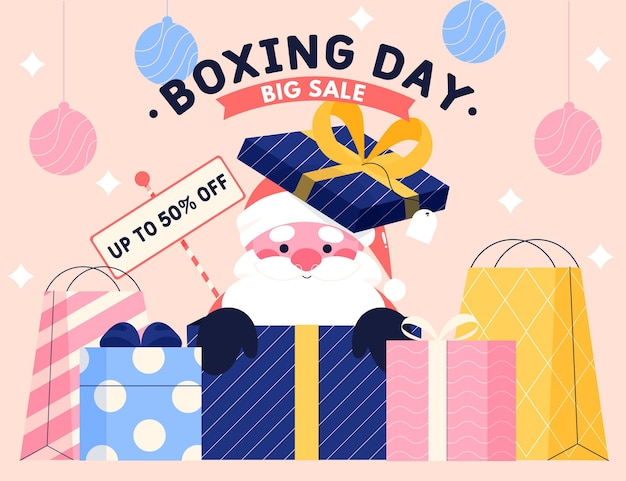 Распродажа на день бокса Бесплатные векторы