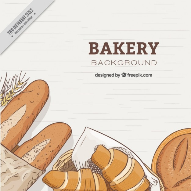 Hand drawn breads background  Free Vector