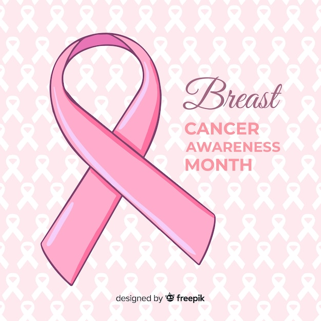 Hand drawn breast cancer awareness Free Vector