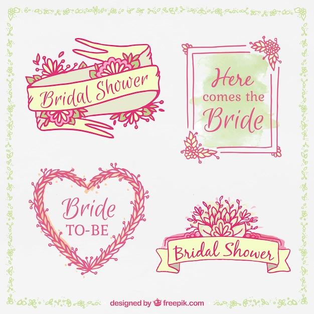 hand drawn bridal shower frames
