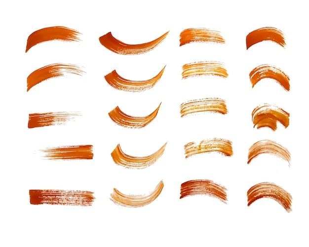 Disegno di tratto di pennello di vernice marrone disegnato a mano Vettore gratuito