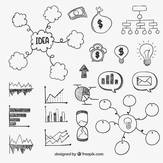 Hand Drawn Business Diagrams Vector Free Download