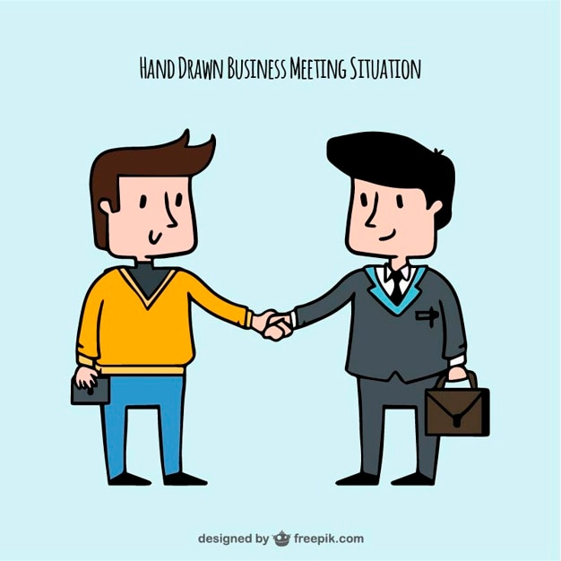 Hand-drawn of business situation Free Vector