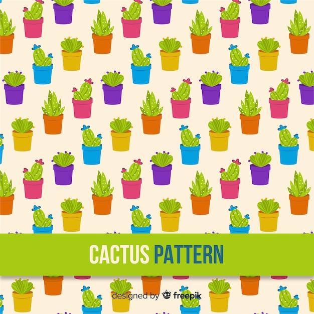 Ручной обращается рисунок кактуса Бесплатные векторы