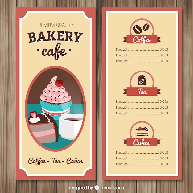Hand drawn cafe menu template Vector – Cafe Menu Templates Free Download