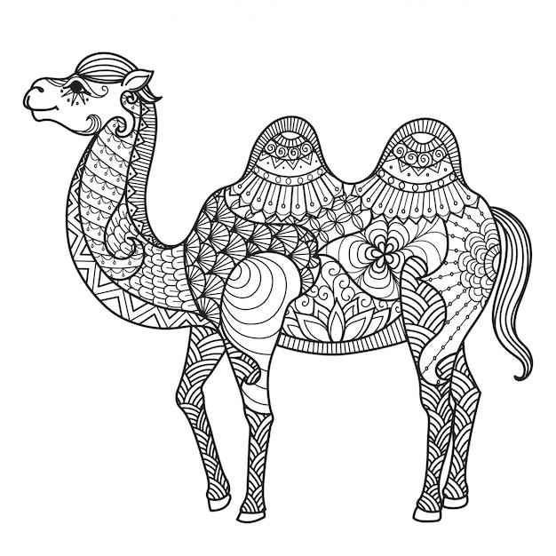 Рисованной фон верблюда Бесплатные векторы