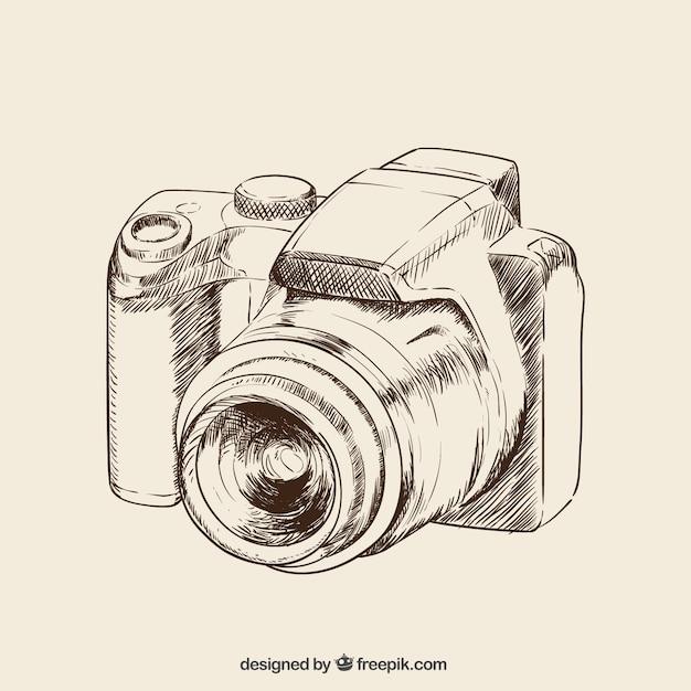 Hand Drawn Camera Vector Free Download