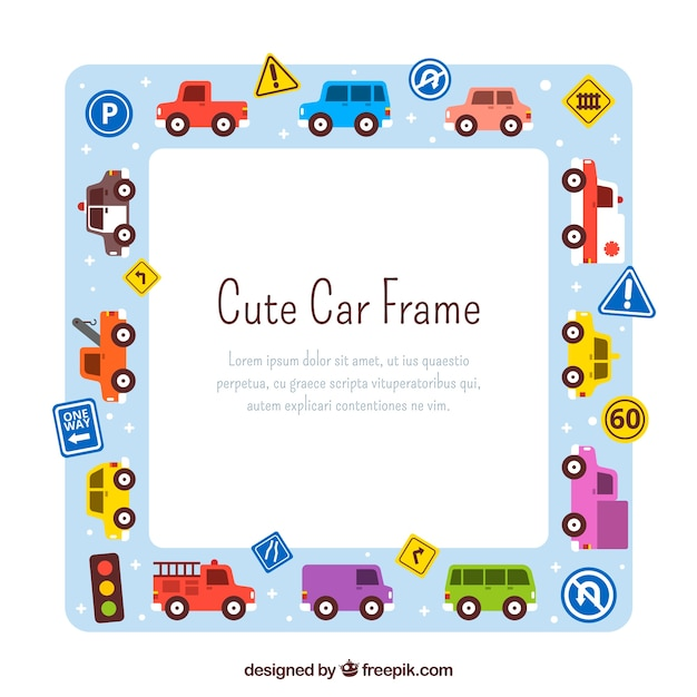 Hand drawn car frame background Vector | Free Download