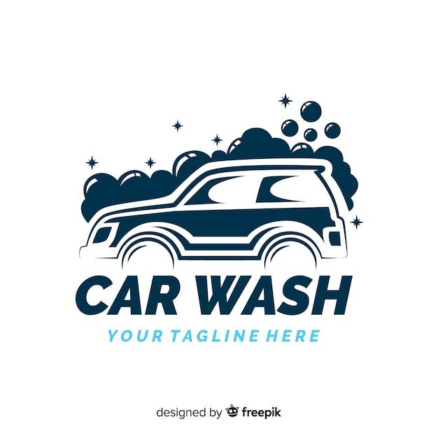 Hand drawn car wash logo background Vector | Free Download  Hand drawn car ...