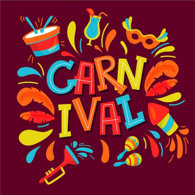 Hand drawn carnival Free Vector