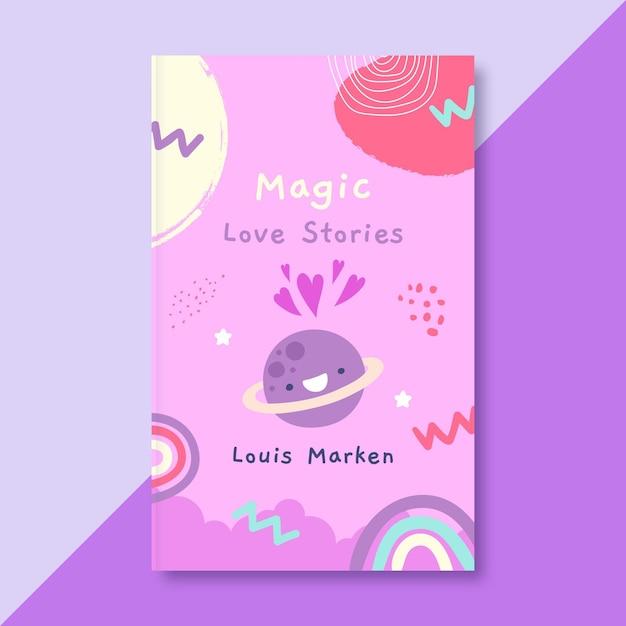 Обложка детской книги о любви Бесплатные векторы