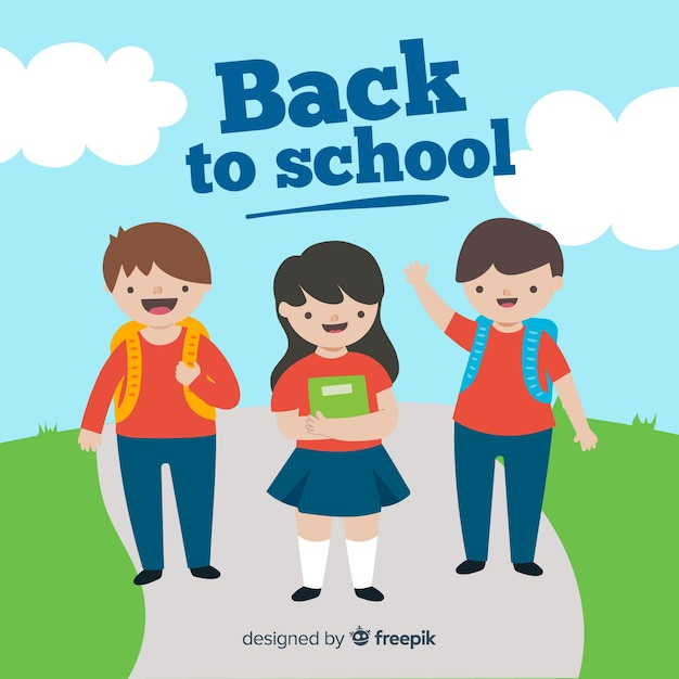 Hand drawn children back to school collection Free Vector