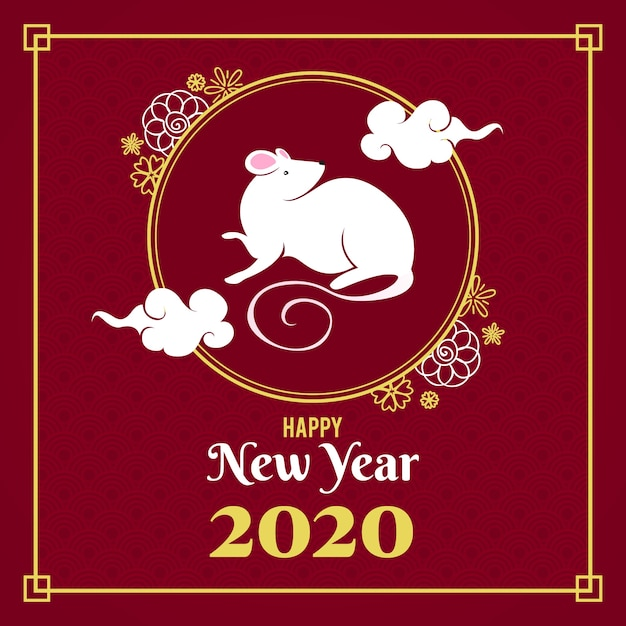 Hand drawn chinese new year Free Vector