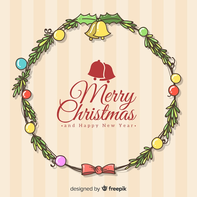 Hand drawn christmas background Free Vector
