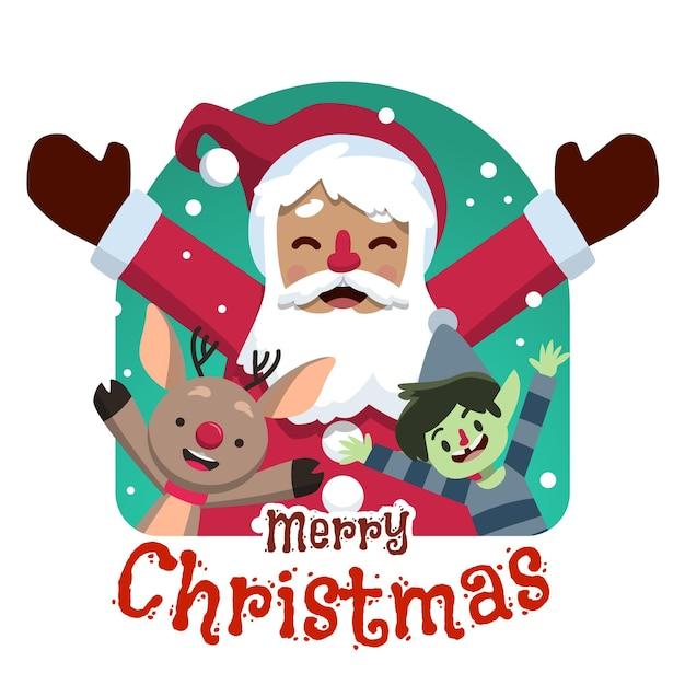 손으로 그린 크리스마스 배경 무료 벡터