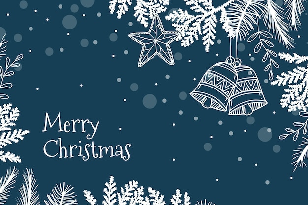 Hand drawn christmas background Premium Vector