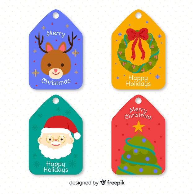 Нарисованная рукой рождественская коллекция значка Бесплатные векторы