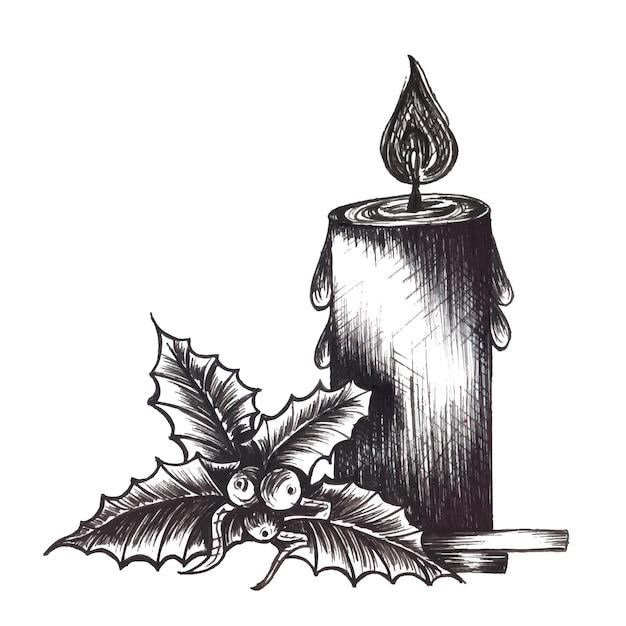 Immagini Natale In Bianco E Nero.Ornamnet Di Natale In Bianco E Nero Disegnato A Mano Vettore Gratis