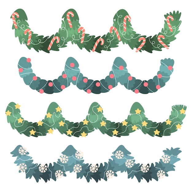 Hand drawn christmas decoration collection Free Vector
