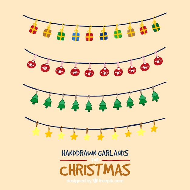 Hand Drawn Christmas Garlands