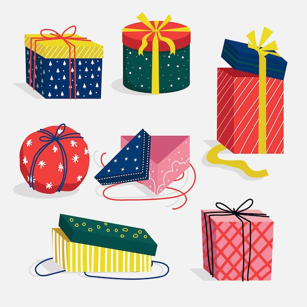 Free Vector Hand Drawn Christmas Gift Collection