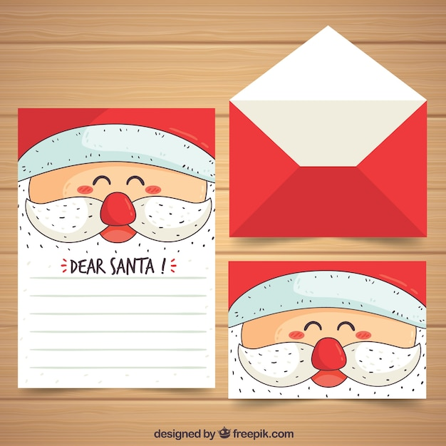 Hand drawn christmas letter template with santas face vector free hand drawn christmas letter template with santas face free vector spiritdancerdesigns Choice Image