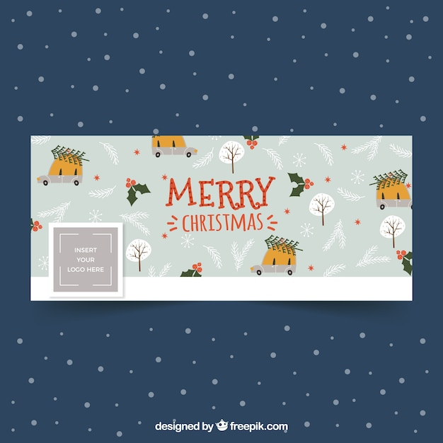hand drawn christmas pattern for facebook vector free download