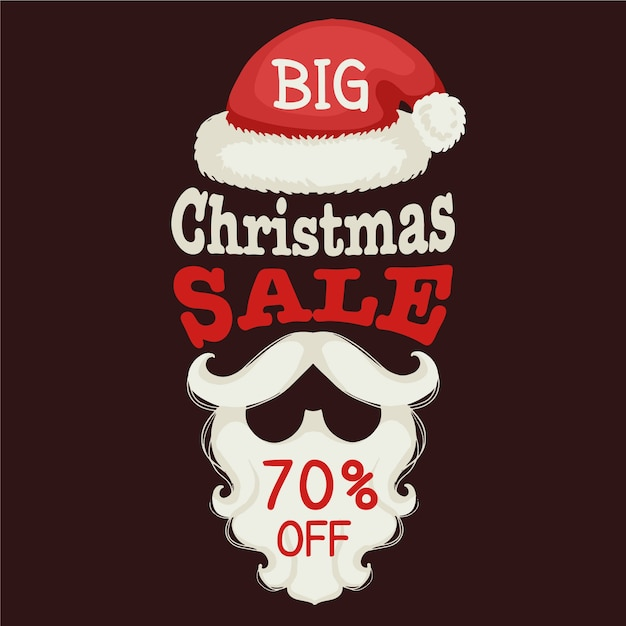 Hand drawn christmas sale concept Free Vector