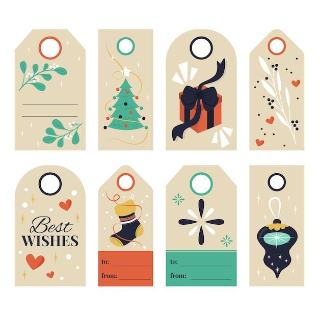 Коллекция рисованной рождественской распродажи Premium векторы