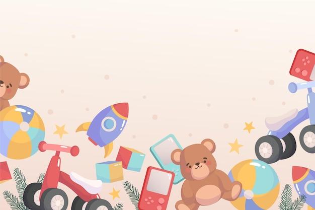 Рождественские игрушки фон Бесплатные векторы