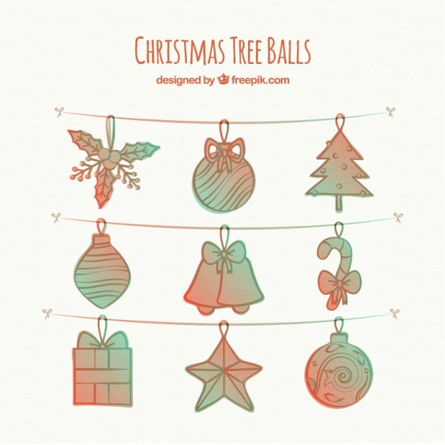 Hand Drawn Christmas Tree Decoration Vector Free Download