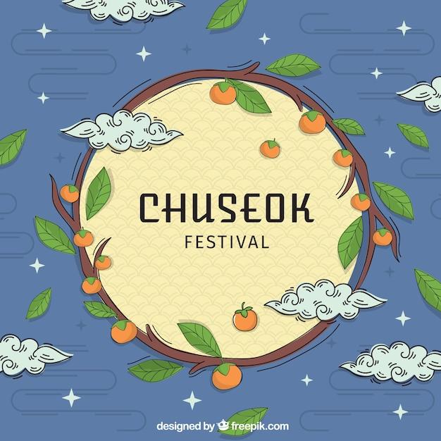 Hand drawn chuseok background Free Vector