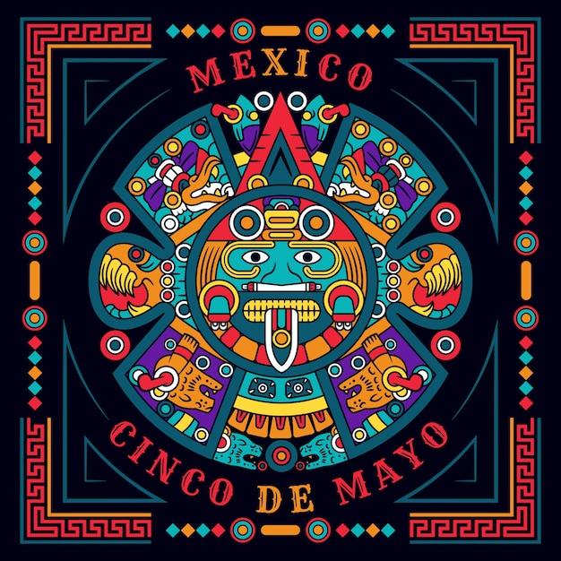 Ручной обращается концепция синко де майо Бесплатные векторы