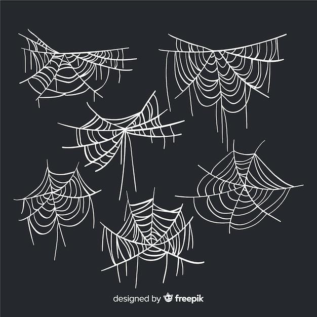 Hand drawn cobweb collection Free Vector