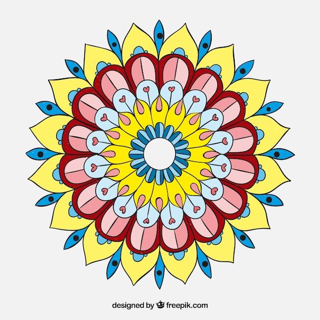 Hand drawn colored mandala Vector | Free Download