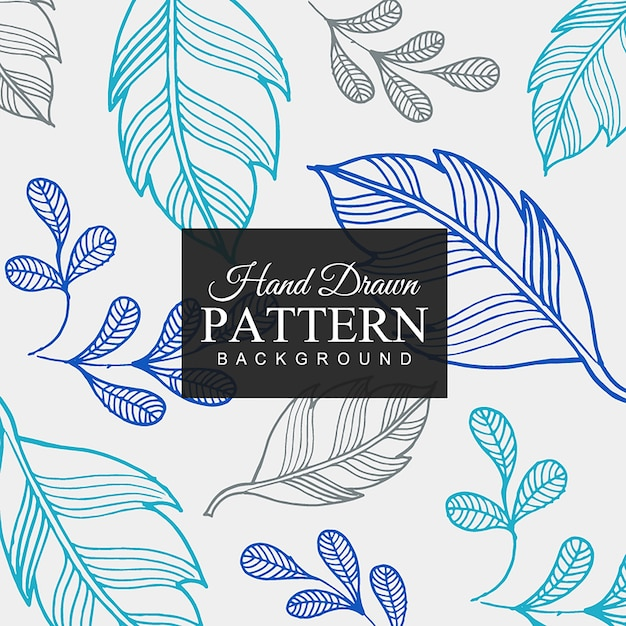 Hand Drawn Colorful Leaf Pattern Background Free Vector