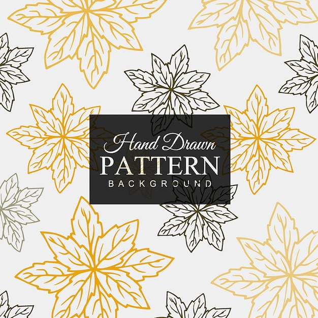 Hand drawn Colorful Leaves Pattern Free Vector