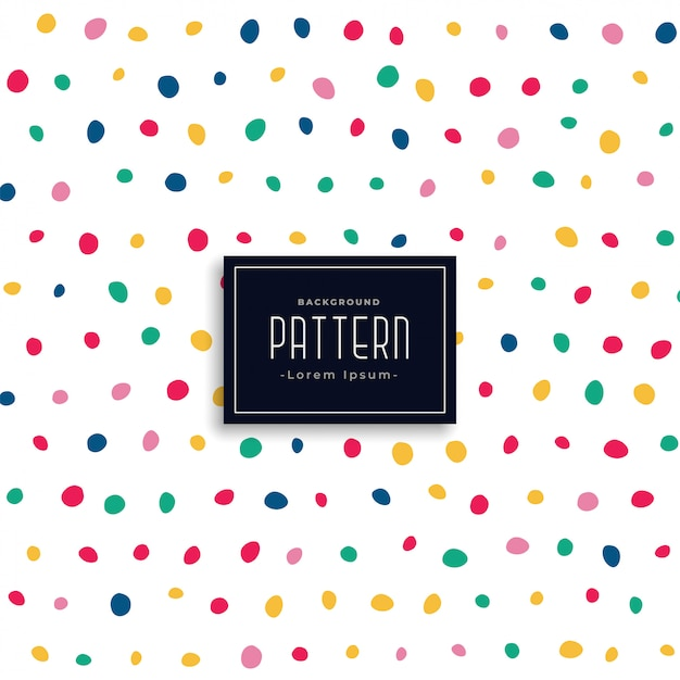 Hand drawn colorful round spots pattern background Free Vector
