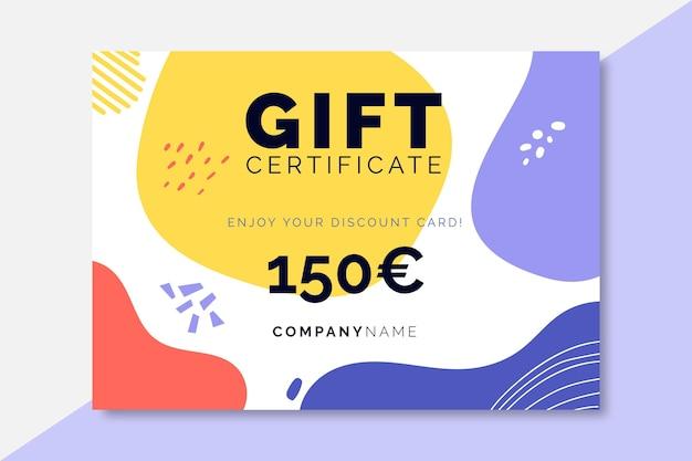 Modello di certificati di vendita colorati disegnati a mano Vettore gratuito