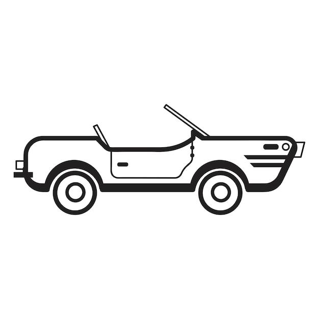 Hand drawn convertible car illustration Free Vector