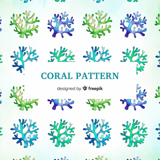 Hand drawn coral background Vector | Free Download