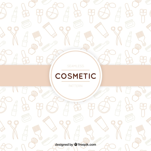 Hand drawn cosmetics background Free Vector
