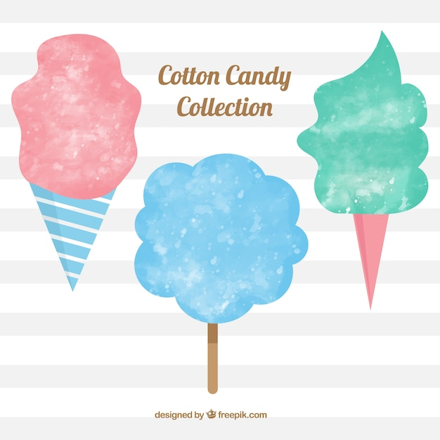 Hand drawn cotton candy collection
