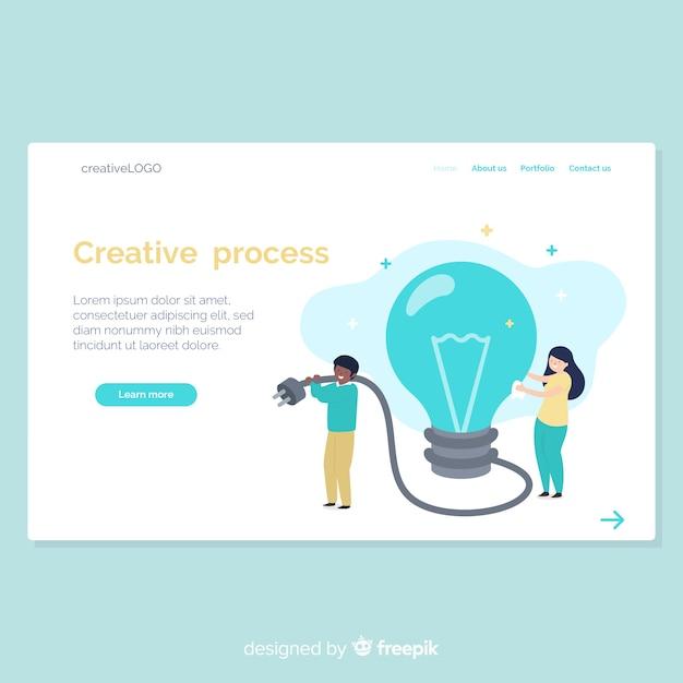 Hand drawn creative process landing page Free Vector