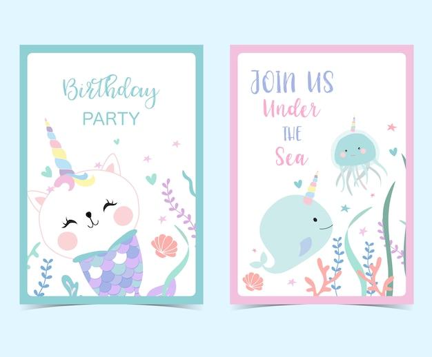 Hand drawn cute card Premium Vector